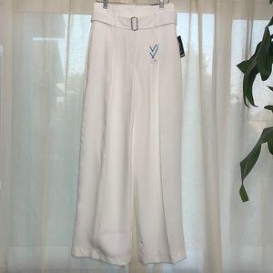 NEW KARLIE KLOSS WIDE LEG BELTED DRESS PANT